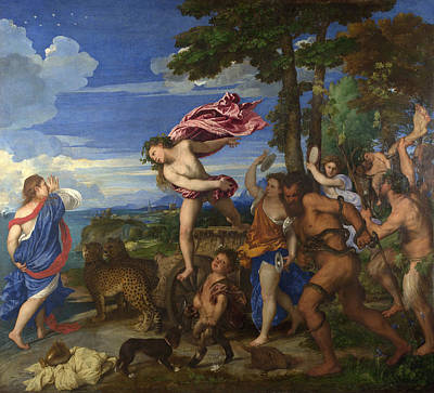 Bacchus And Ariadne Poster by Titian