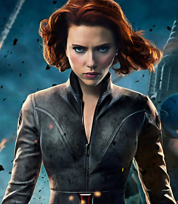 Scarlett Johansson Black Widow Collection Poster by Marvin Blaine