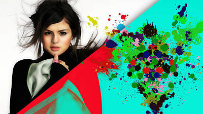 Selena Gomez Collection Poster by Marvin Blaine