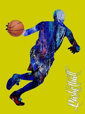 Basketball Collection Poster by Marvin Blaine