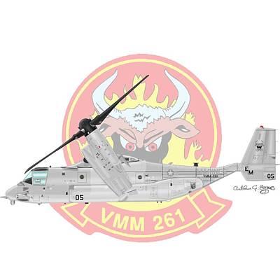 Bell Boeing Mv-22b Osprey Poster by Arthur Eggers