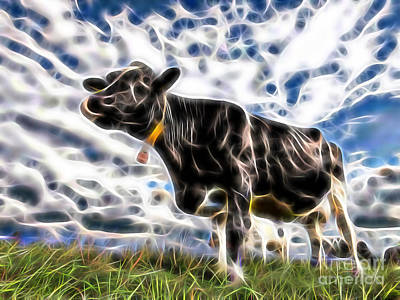 Cow Poster by Marvin Blaine