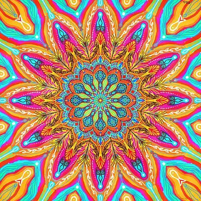 Mandala Flower Poster by Sandrine Kespi