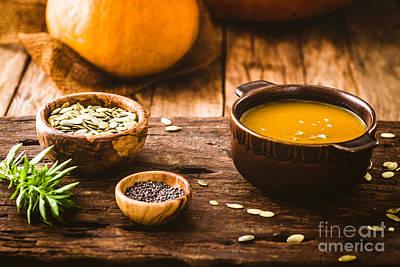 Pumpkin Soup Poster by Mythja  Photography