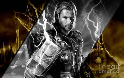 Thor Collection Poster by Marvin Blaine