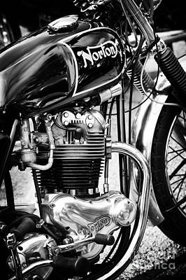 850cc Commando Monochrome Poster by Tim Gainey