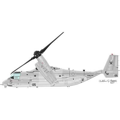 Bell-boeing Mv-22b Osprey Poster by Arthur Eggers