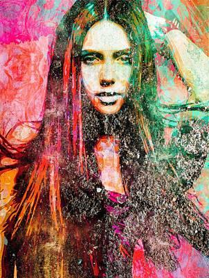 Nina Dobrev Poster by Svelby Art