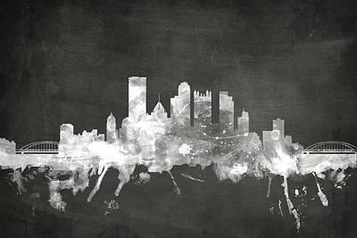Pittsburgh Pennsylvania Skyline Poster by Michael Tompsett