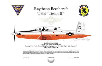 Raytheon Beechcraft T-6b Texan II Poster by Arthur Eggers