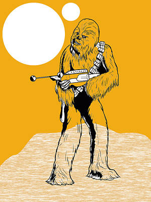 Star Wars Chewbacca Collection Poster by Marvin Blaine