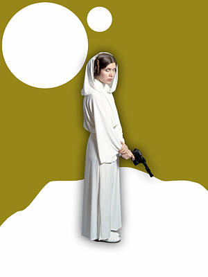 Star Wars Princess Leia Collection Poster by Marvin Blaine