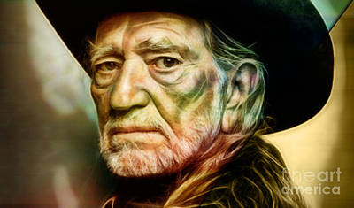 Willie Nelson Collection Poster by Marvin Blaine