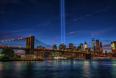 911 Tribute 15 Years Later 1 Poster by Dennis Clark