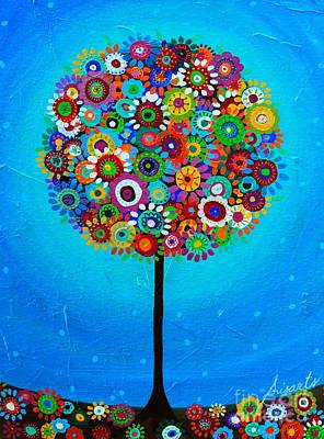 Tree Of Life Poster by Pristine Cartera Turkus