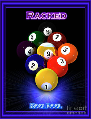 9ball Racked Poster by Draw Shots