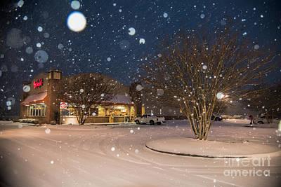 A Blizzard At Bojangles Poster by Robert Loe
