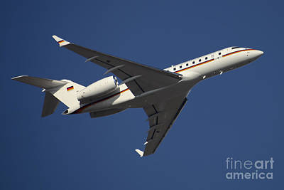 A Bombardier Global 5000 Vip Jet Poster by Timm Ziegenthaler