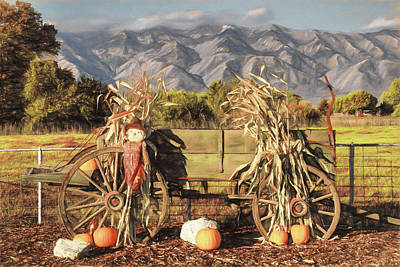 A Country Autumn Poster by Donna Kennedy