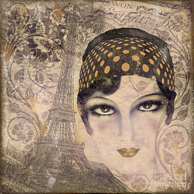 A Date With Paris Poster by Mindy Sommers