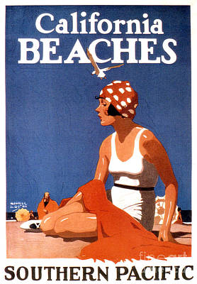 California Beaches Poster by Jon Neidert
