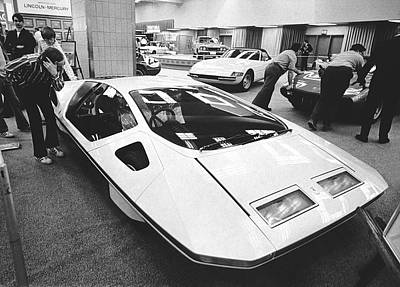 A Ferrari Modulo At Auto Show Poster by Underwood Archives