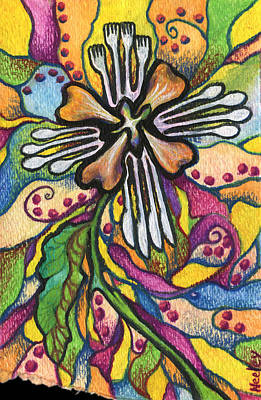 A Flower For Not Organizing The Silverware Poster by Kd Neeley