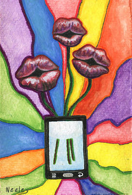 A Flower For Not Texting You Back Poster by Kd Neeley