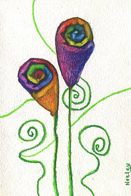 A Flower For Using Your Special Towels Poster by Kd Neeley