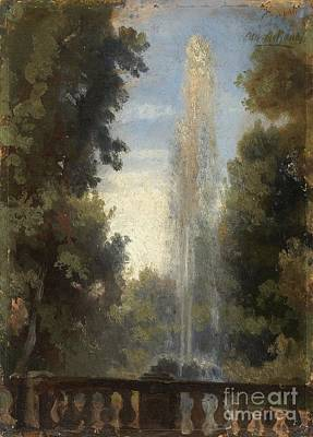 A Fountain In Frascati Poster by MotionAge Designs