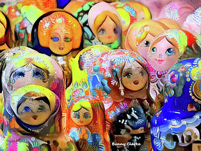A Gaggle Of Girls Poster by Bunny Clarke