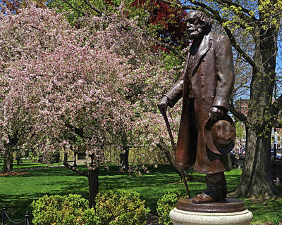 A Gentleman Walking The Public Garden On A Beautiful Spring Day Boston Ma Edward Everett Hale Poster by Toby McGuire