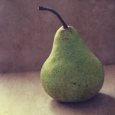 A Green Pear- Art By Linda Woods Poster by Linda Woods