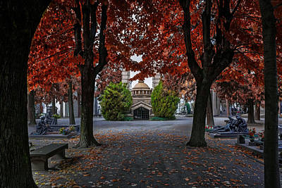 A Monumental Autumn In Milan Italy Poster by Carol Japp