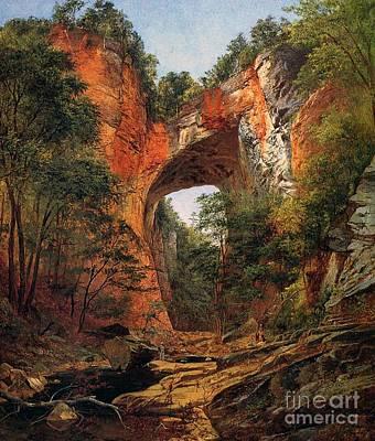A Natural Bridge In Virginia Poster by David Johnson