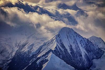 A Peak In The Clouds Poster by Rick Berk