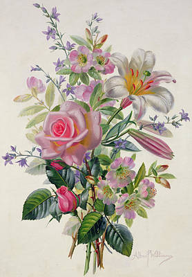 A Pink Bouquet Poster by Albert Williams
