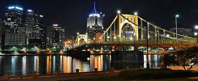 A Pittsburgh Panorama Poster by Frozen in Time Fine Art Photography