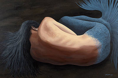 A Siren's Slumber Poster by Matthew Haddaway