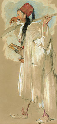 A Suliote Warrior  Poster by John Frederick Lewis
