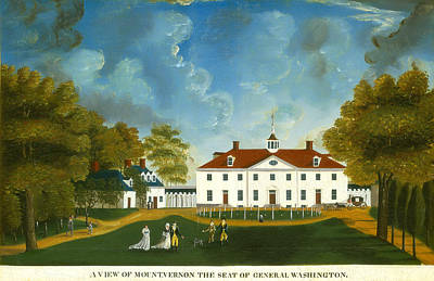 A View Of Mount Vernon Poster by American 18th Century