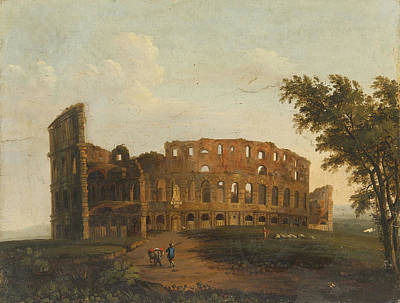 A View Of The Colosseum Poster by Celestial Images