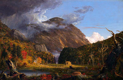 A View Of The Mountain Pass Called The Notch Of The White Mountans  Poster by Thomas Cole