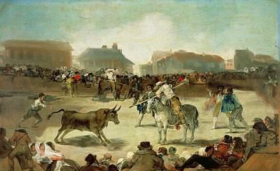 A Village Bullfight  Poster by Goya