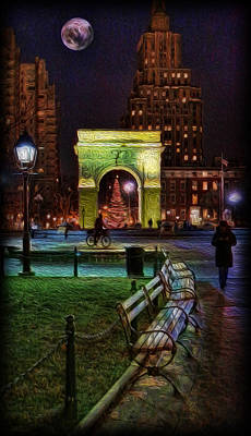 A Walk In Washington Square Poster by Lee Dos Santos