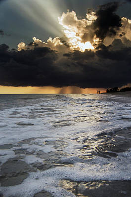A Walk On The Beach Poster by Greg Mimbs