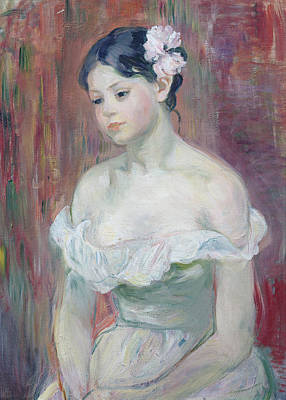 A Young Girl Poster by Berthe Morisot