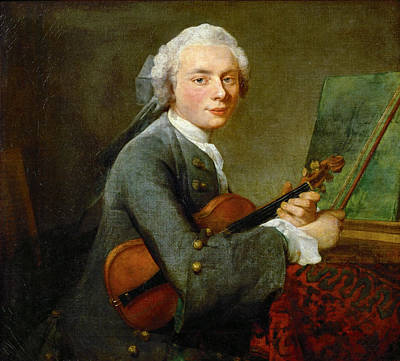 A Young Man With A Violin Poster by Celestial Images