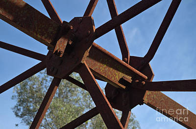 Abandoned Water Extraction Wheel Mechanism 3 Poster by Angelo DeVal
