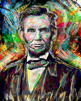 Abe Lincoln Painting Poster by Pat Spark